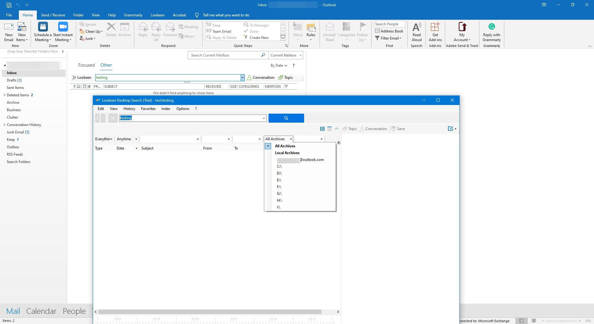 Lookeen Outlook add-in.