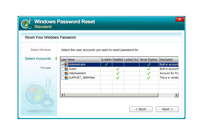 windows admin password recovery