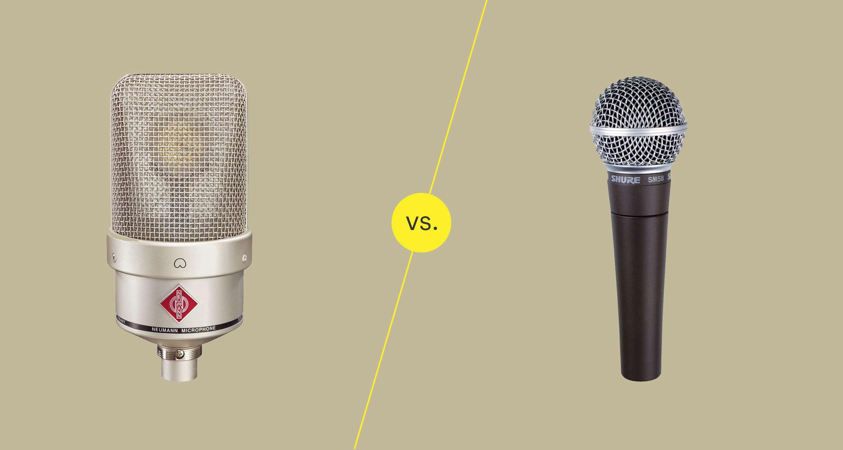 Condenser mic vs. dynamic mic