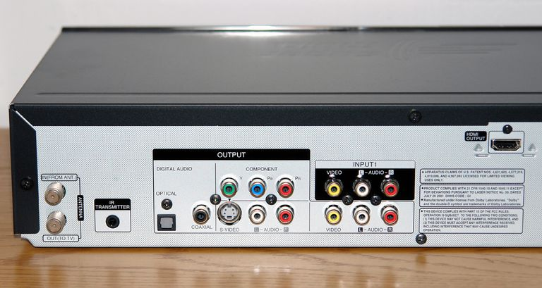 LG RC897T DVD Recorder VCR Combo - Rear View