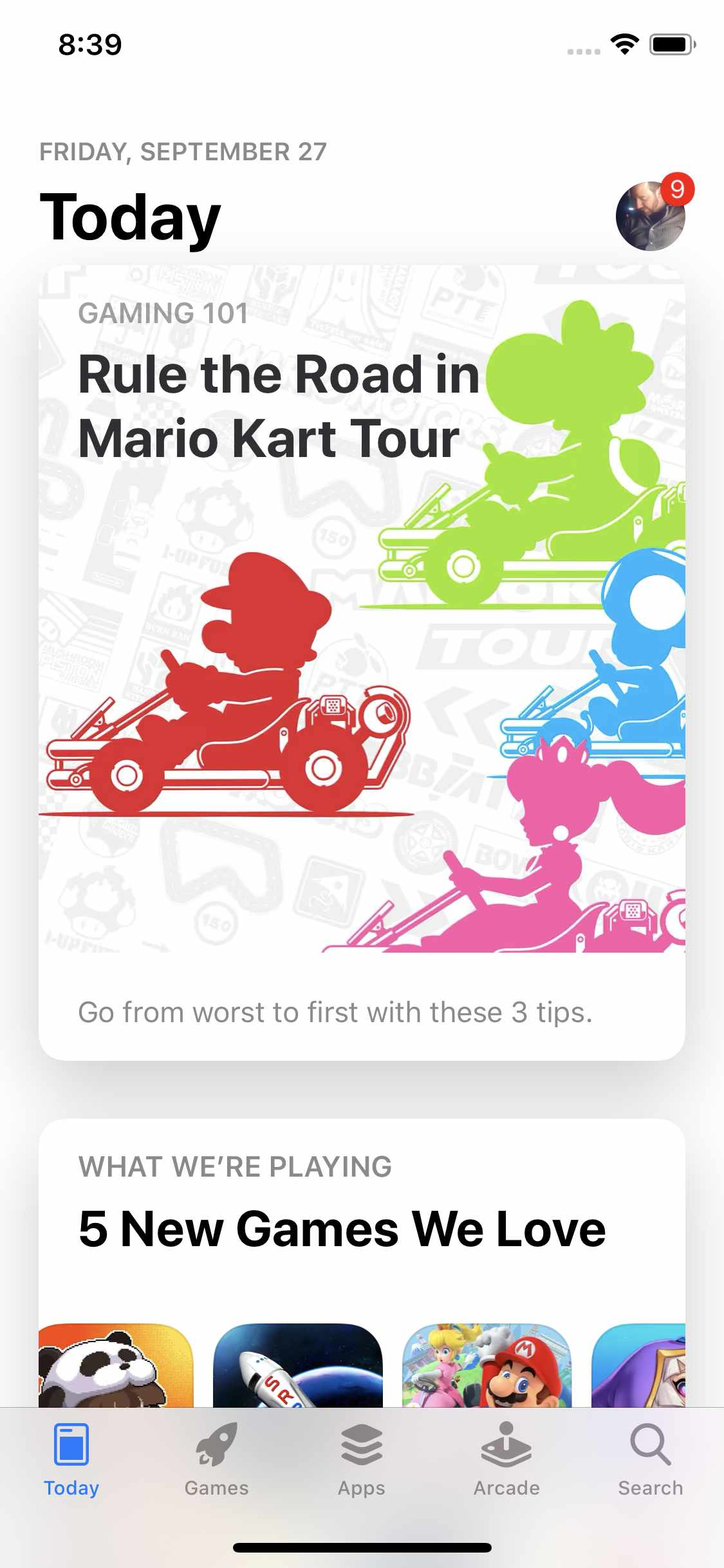 Screenshot of the iOS 13 App Store app