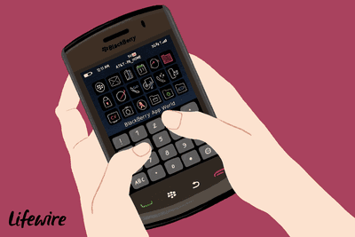 Person using a Blackberry device