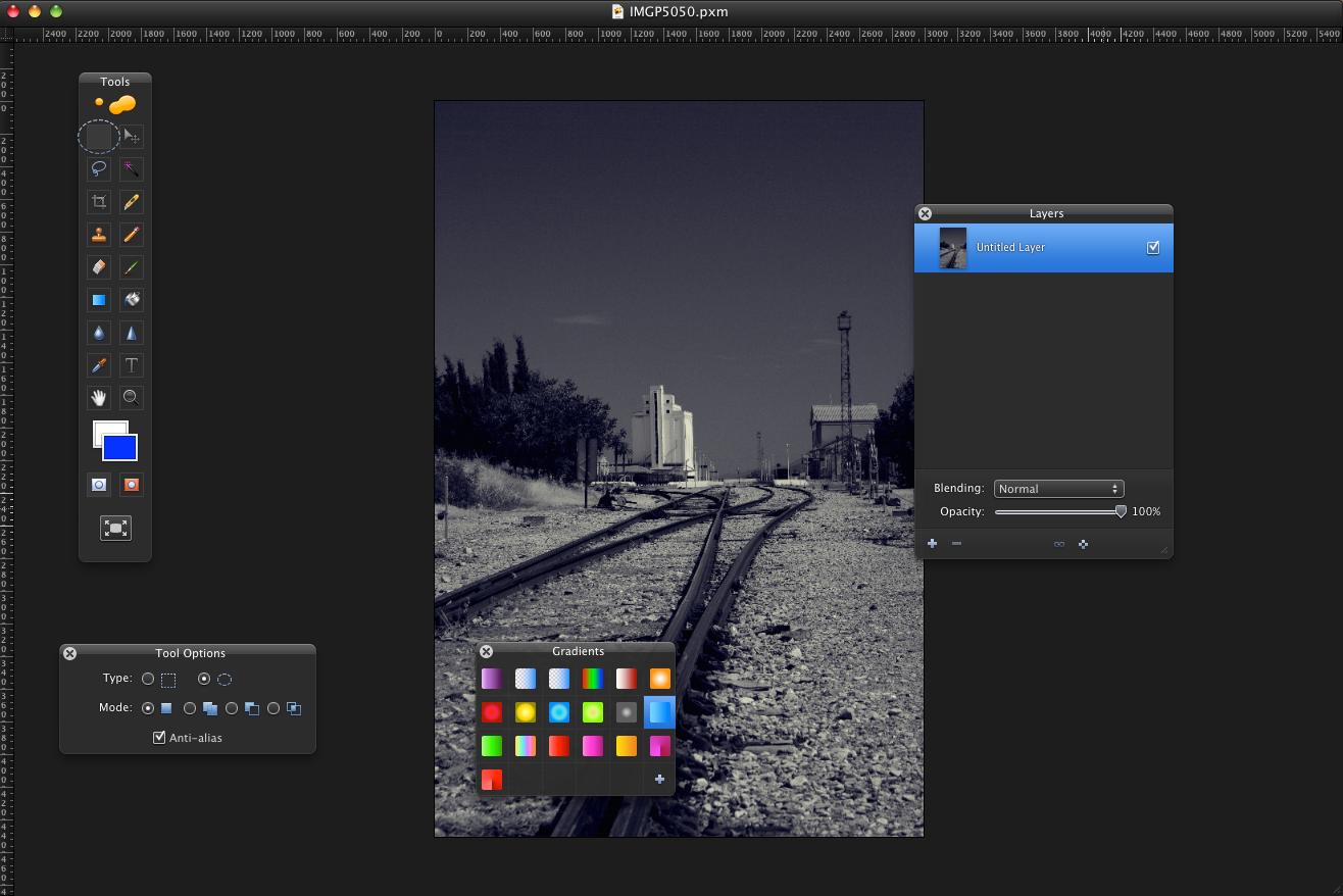 A screenshot of Pixelmator for Mac