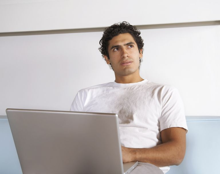 Man With Laptop Computer
