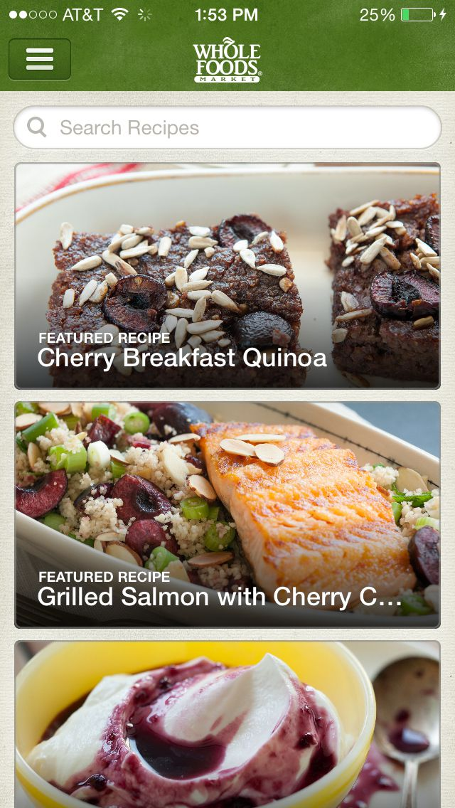5 healthy recipe apps to help you lose weight whole foods recipes app forumfinder Gallery