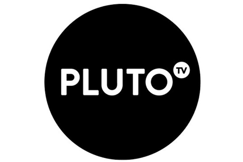 Screenshot of the Pluto TV website logo