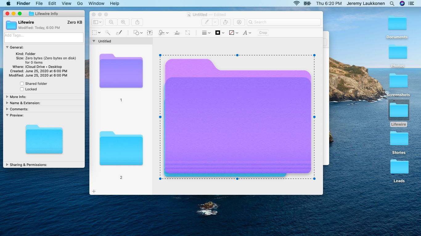 A screenshot of copying from Preview on macOS.