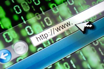 Closeup of address bar on computer, depicting an internet link