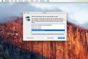 iPhoto Library Dialog box