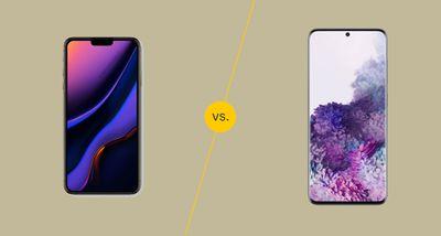 iPhone vs Samsung Phone