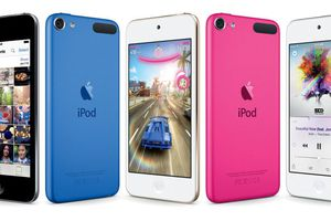 6th generation iPod touch in various colors