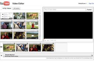 Screenshot of Youtube video editor.