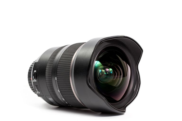 A detached DSLR camera lens