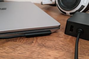 A Surface that's plugged in but not charging.