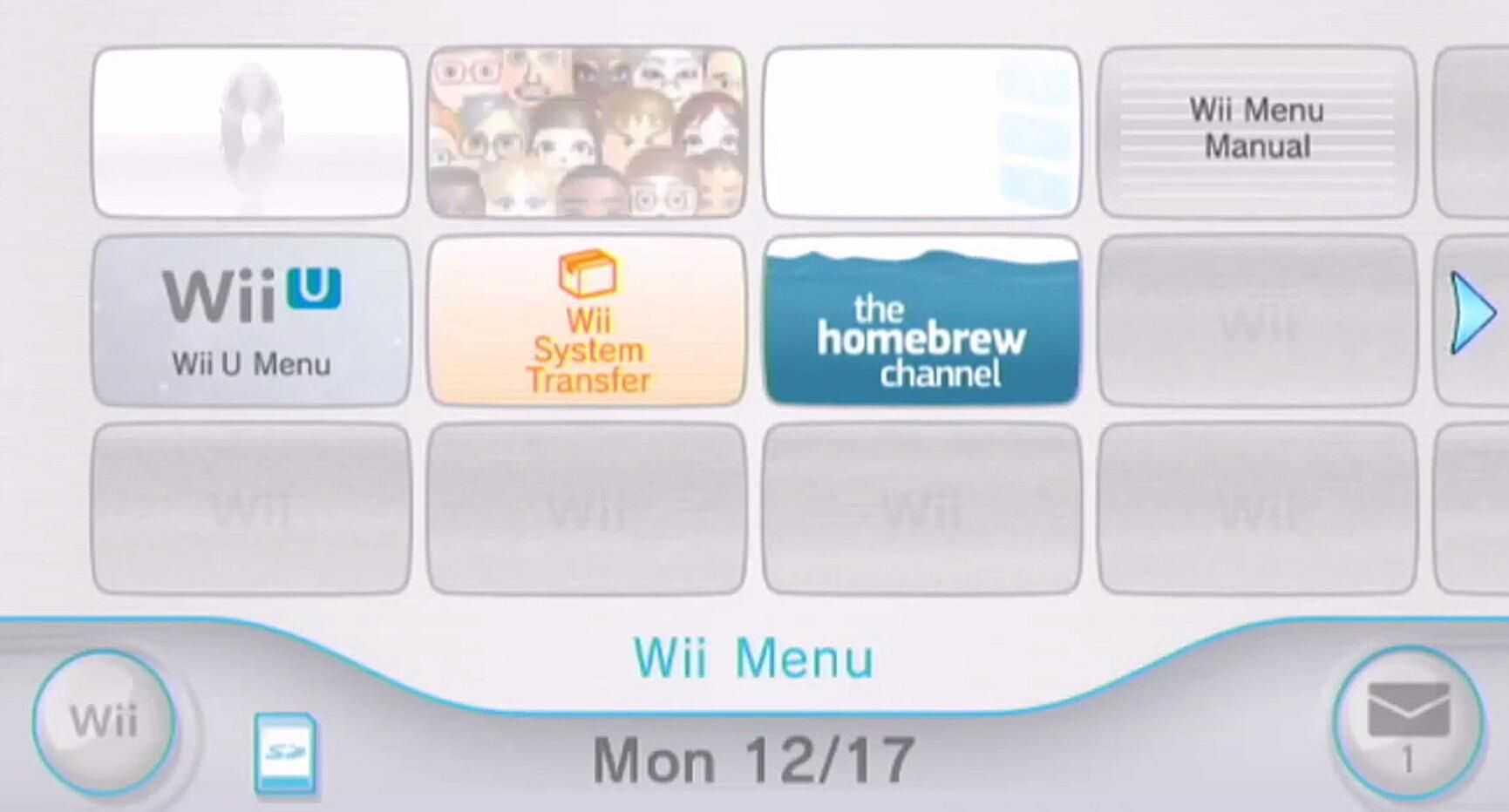 Install the Homebrew Channel to Wii U's Wii Mode