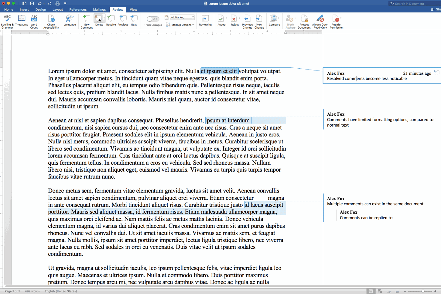 How To Delete Comments In Word