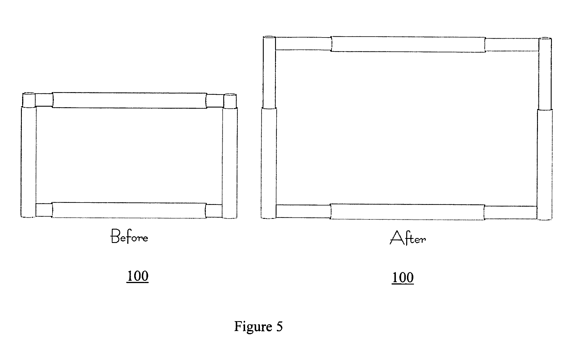 expandable display illustration from Google patent US7268491B2