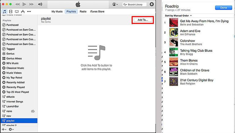 how to get playlist from itunes to ipod