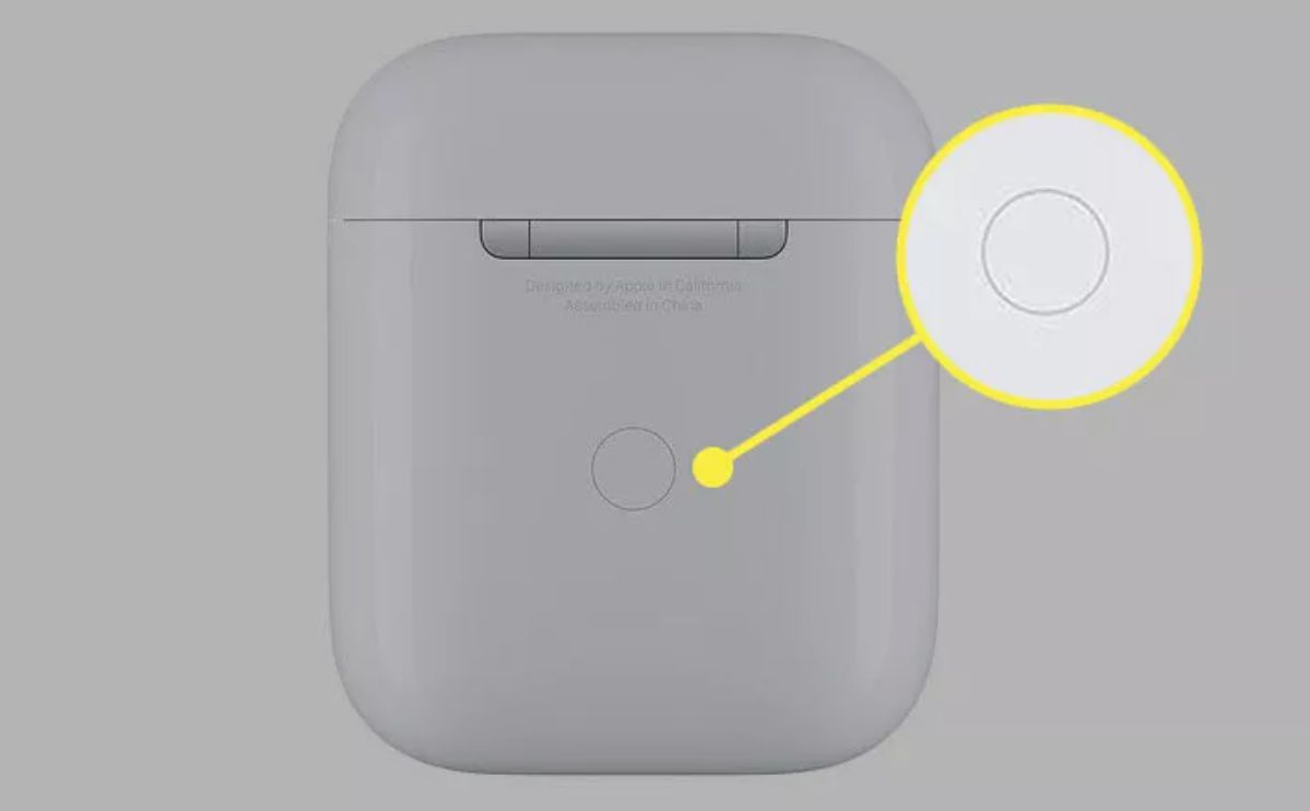 Apple Airpod Case pairing button.
