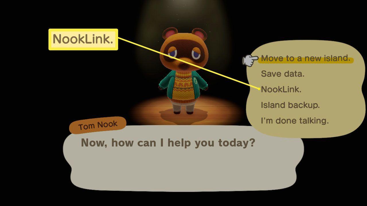 Animal Crossing: New Horizons NookLink setup screen