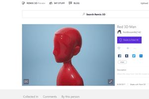Screenshot of a Paint 3D model on Remix 3D