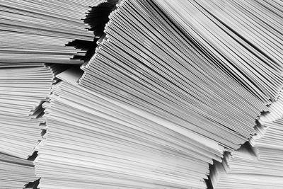 Stacks of envelopes