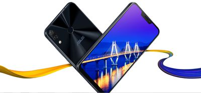 Asus ZenFone 5, front and back view at angle