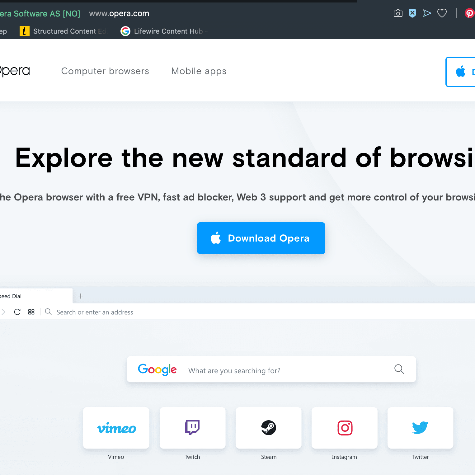 What Is the Opera Browser?