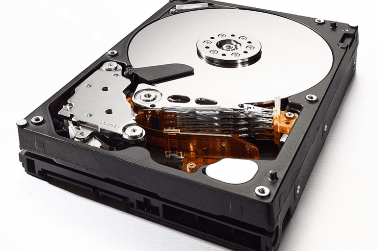 A picture of a hard drive