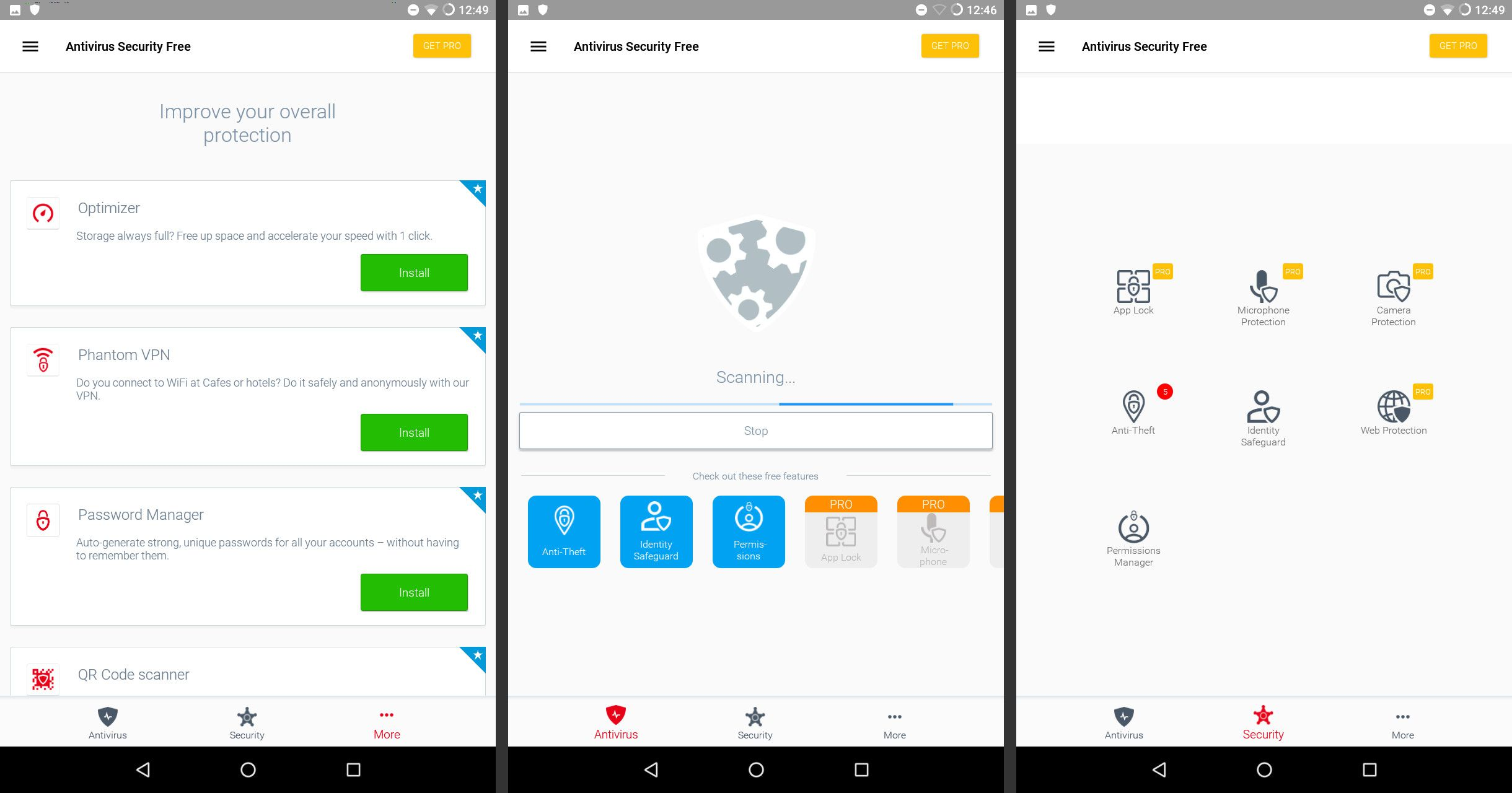 antivirus apps for android system
