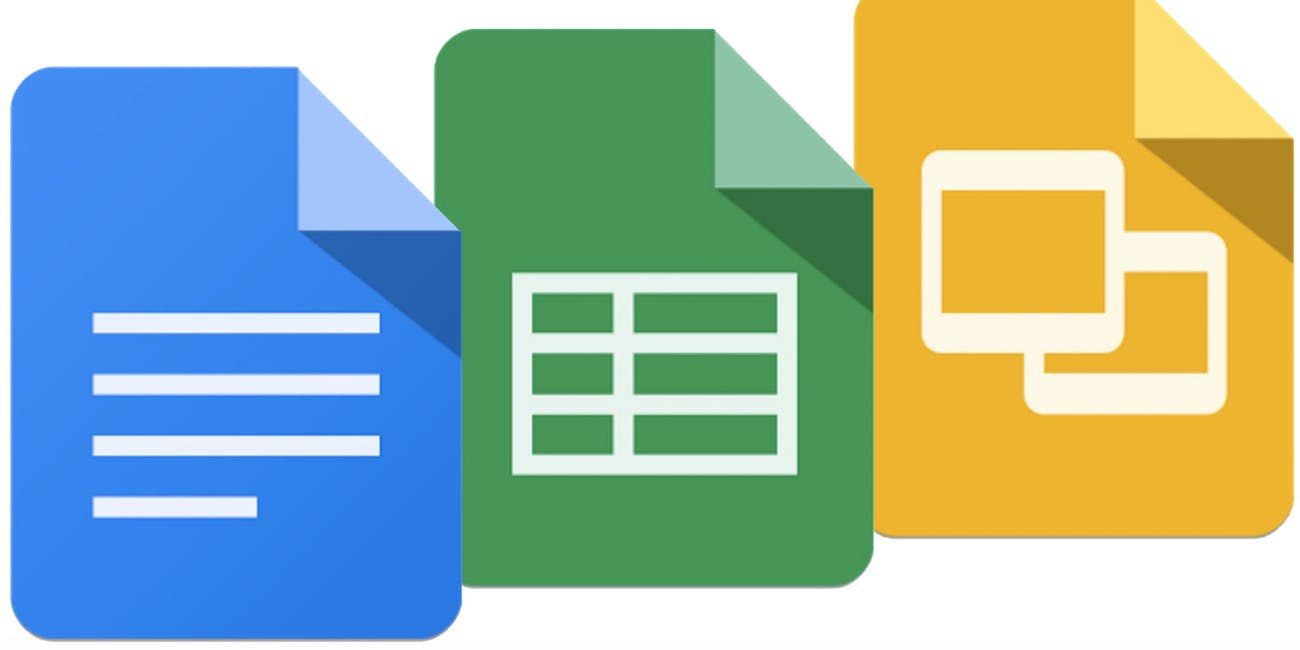 The Google Docs icons