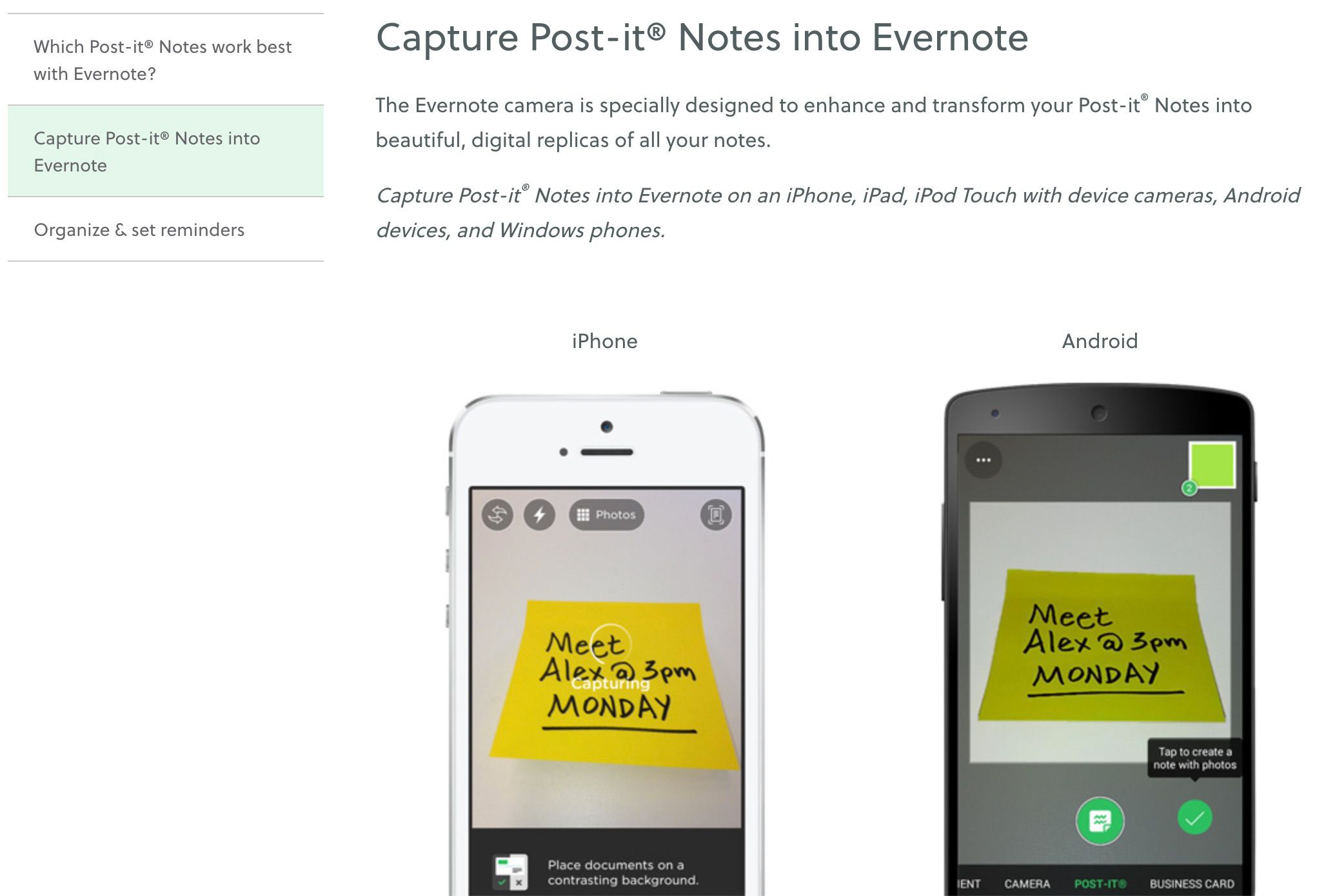 Post-Its and Evernote