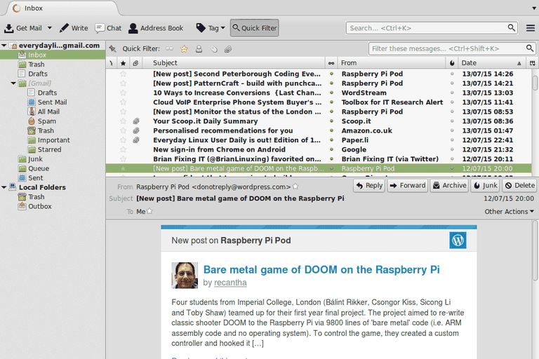 The Thunderbird email client