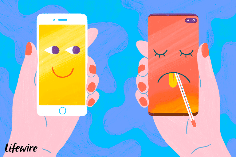 A healthy and a sick smartphone
