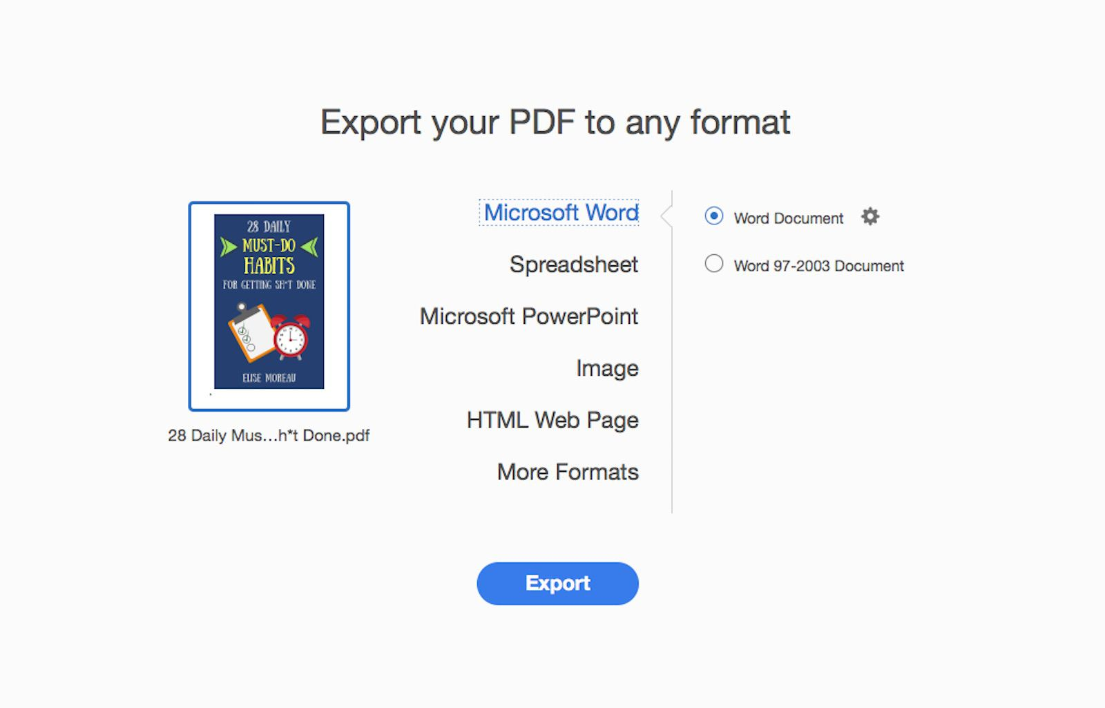 How to Convert PDF to Word Files on Mac