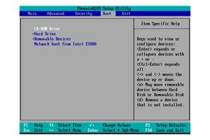 BIOS Setup Utility Boot Menu (CD-ROM Priority)