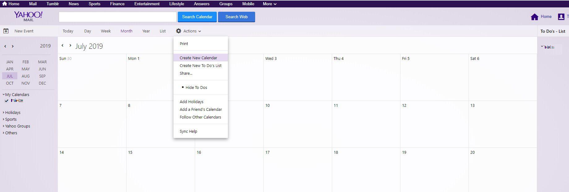 How to Set up Yahoo! Calendar iCal Sync