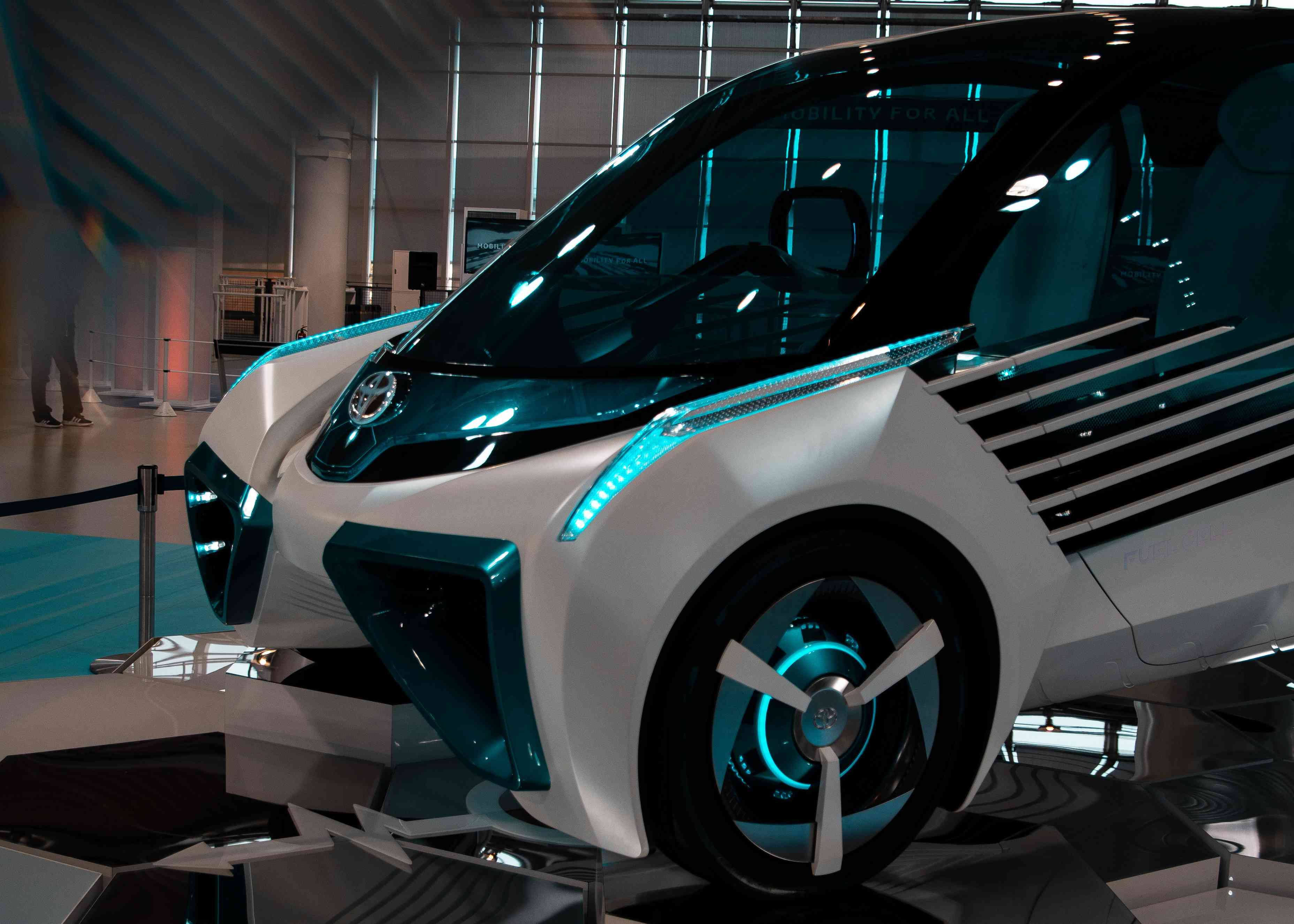 A Toyota fuel cell car concept.