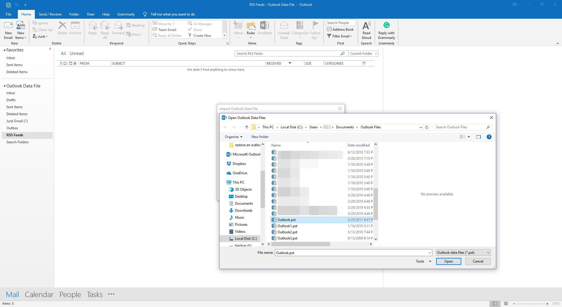 How to Restore Outlook Email, Contacts and Other Data