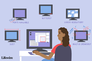 An illustration showing TVs vs Monitors