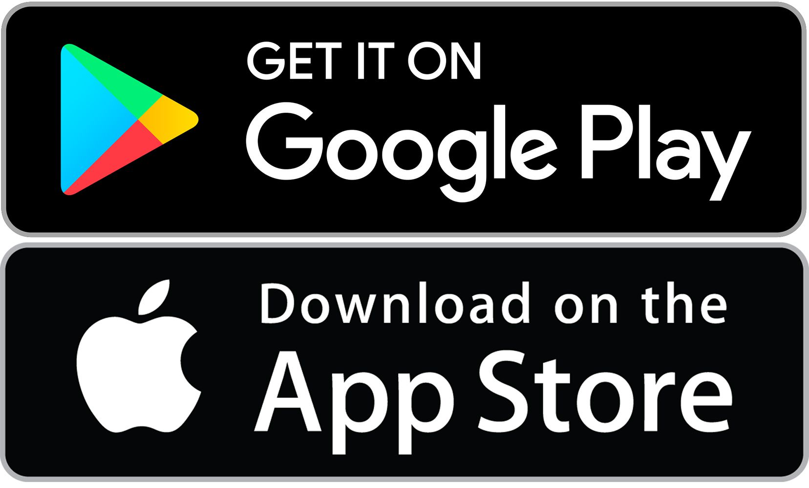 google play and app store badges