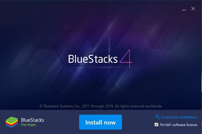 A screenshot of BlueStacks 4.