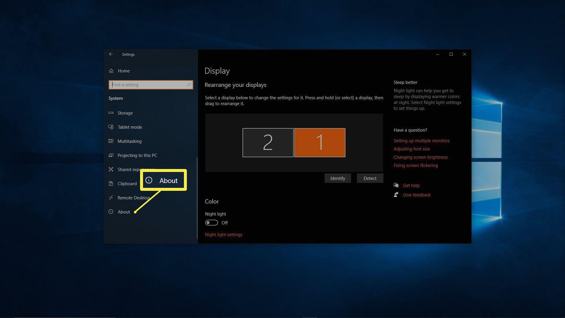 A screenshot of Windows Settings.
