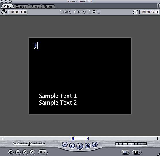 Screenshot showing a lower third
