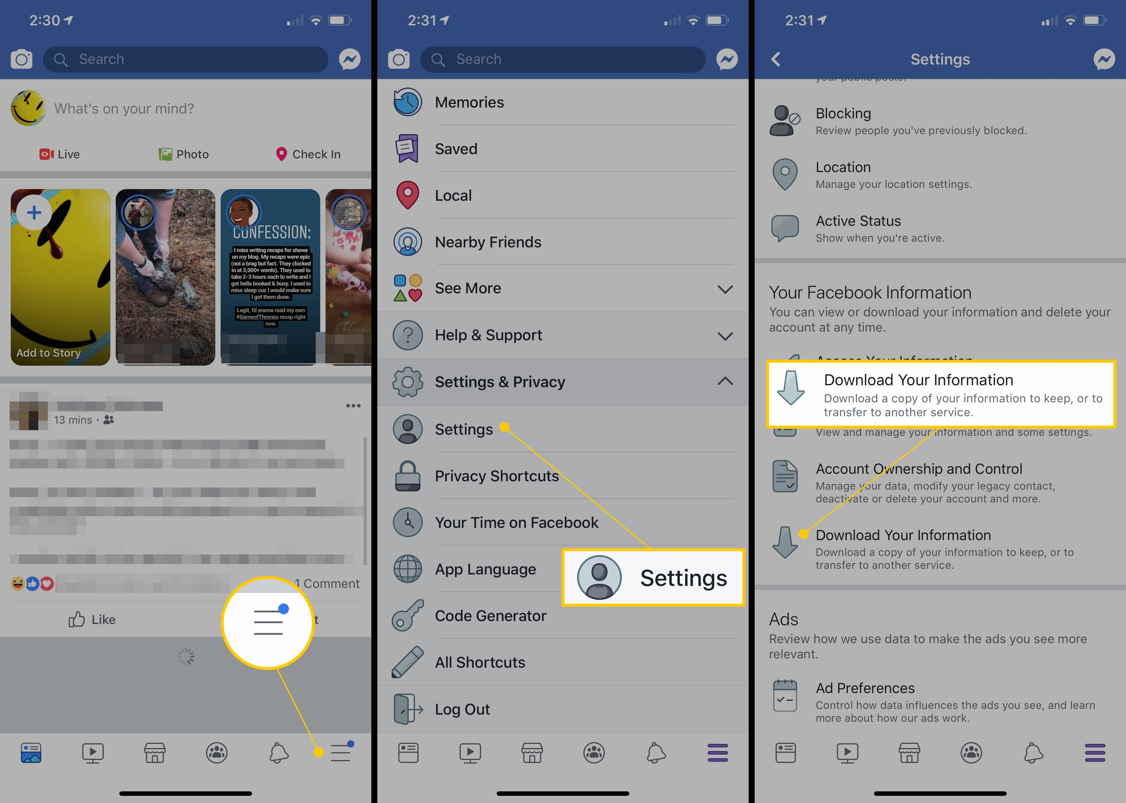 facebook page manager old version apk download