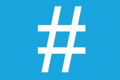 Twitter hashtag icon