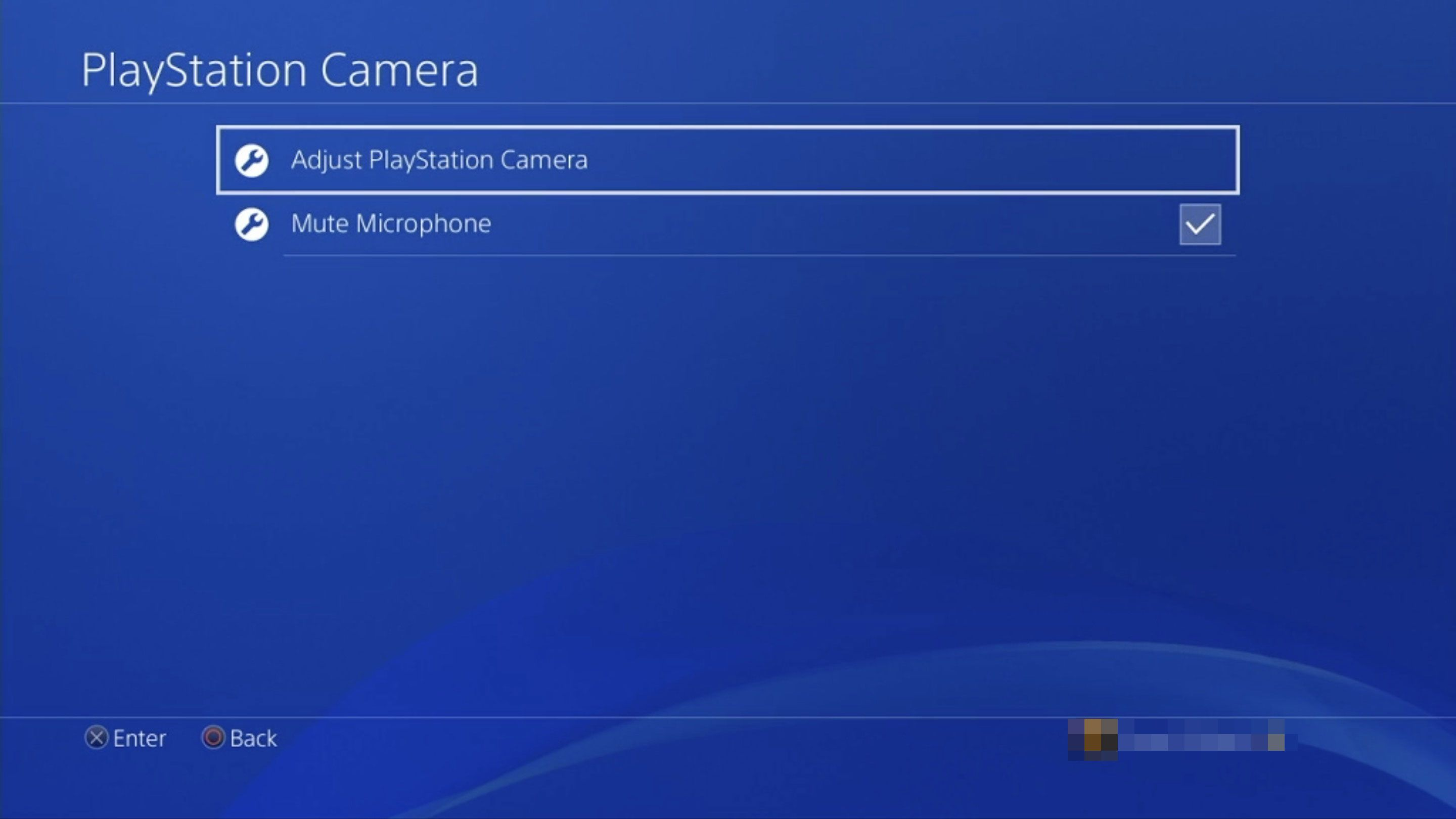 Adjust PlayStation Camera option in PS4 settings