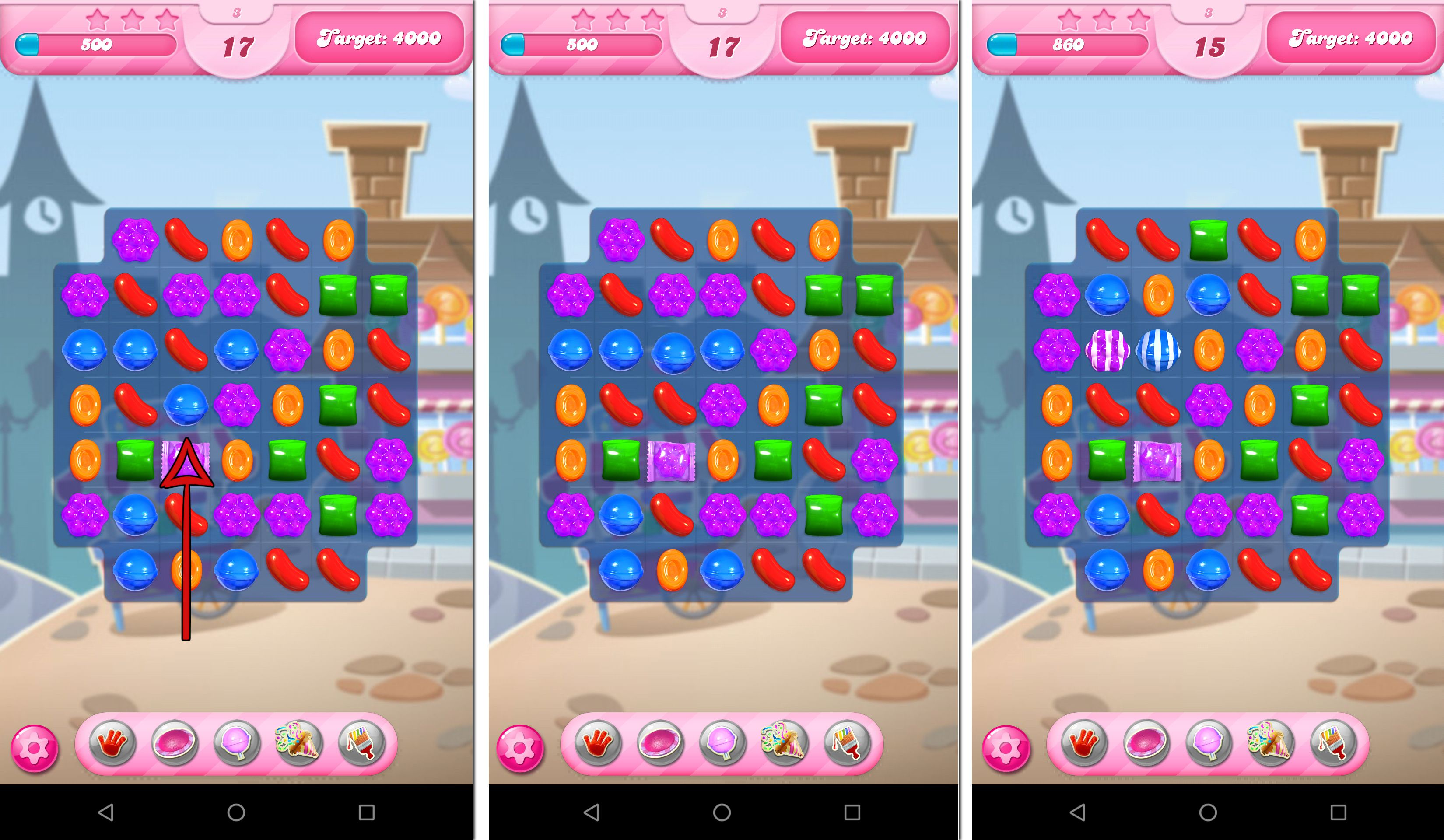 how to make striped candy in candy crush saga