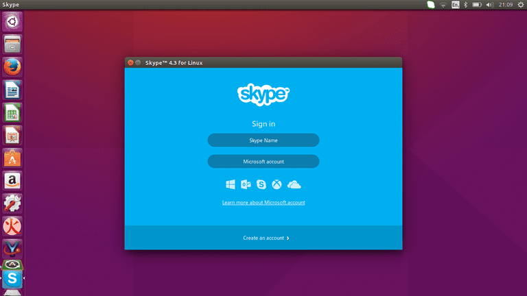 Skype on the Ubuntu desktop