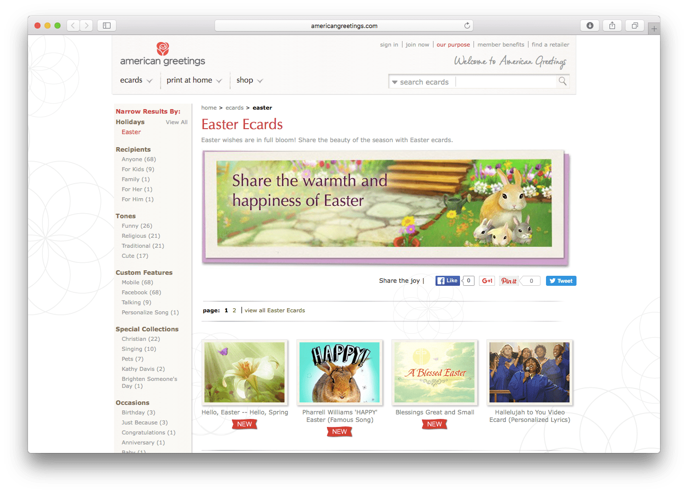 Top 25 favorite sites to send easter greetings americangreetings easter e cards m4hsunfo